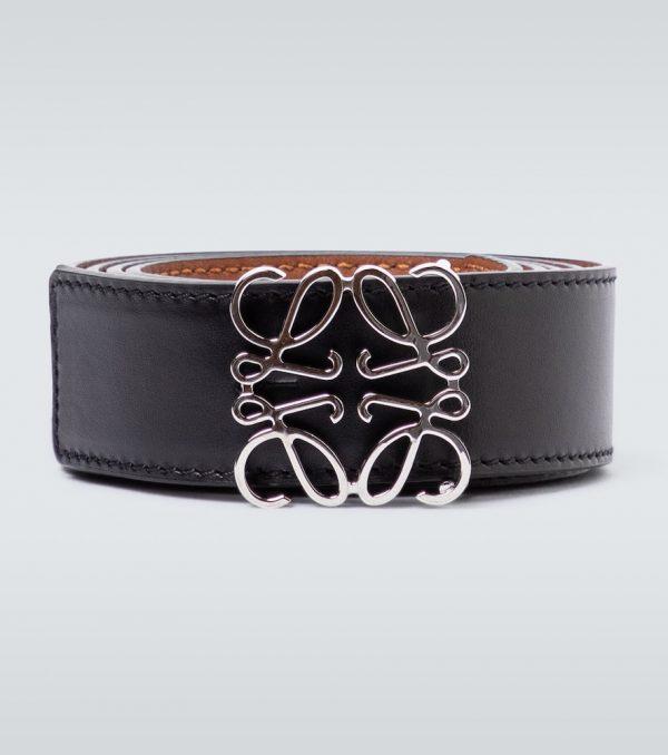 Anagram reversible leather belt
