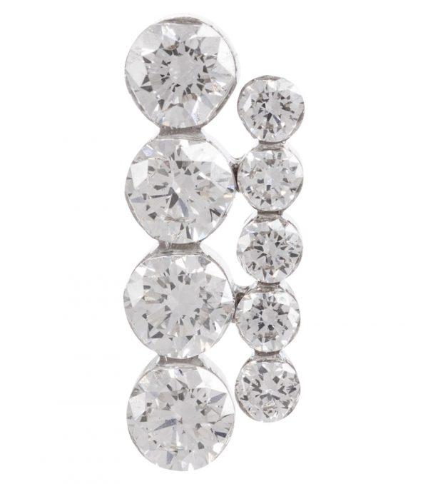 Aspara Bar 18kt white gold single earring with diamonds