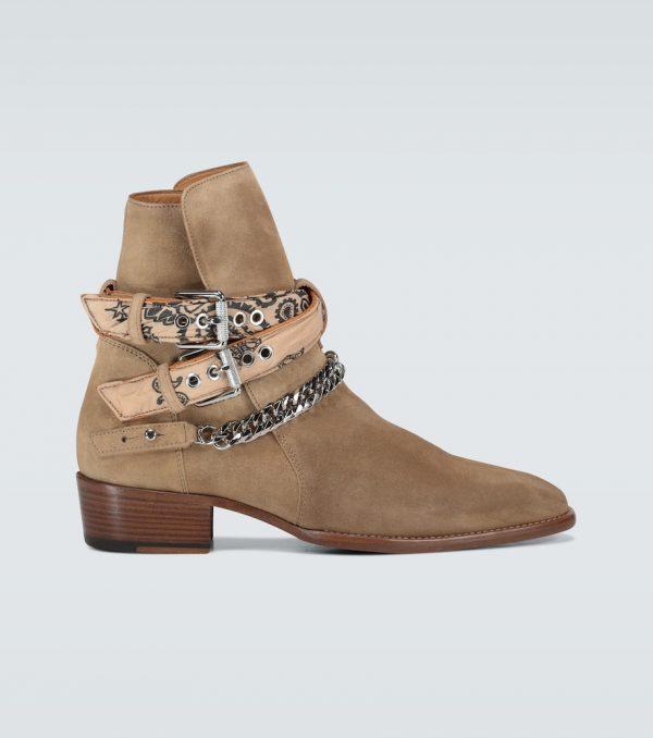 Bandana Buckle ankle boots