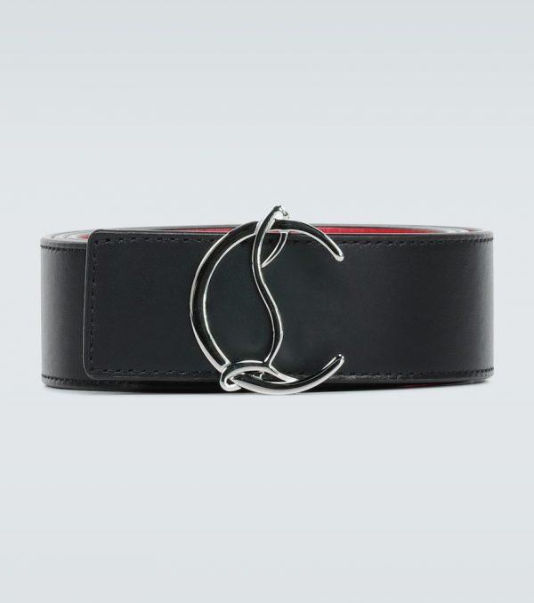 CL Logo reversible leather belt