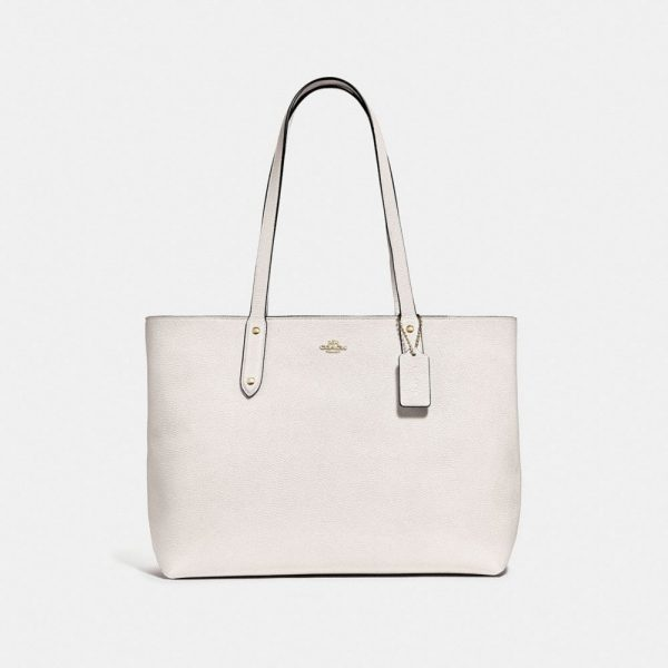 Central Tote With Zip in White