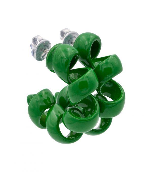 Coiled hoop earrings