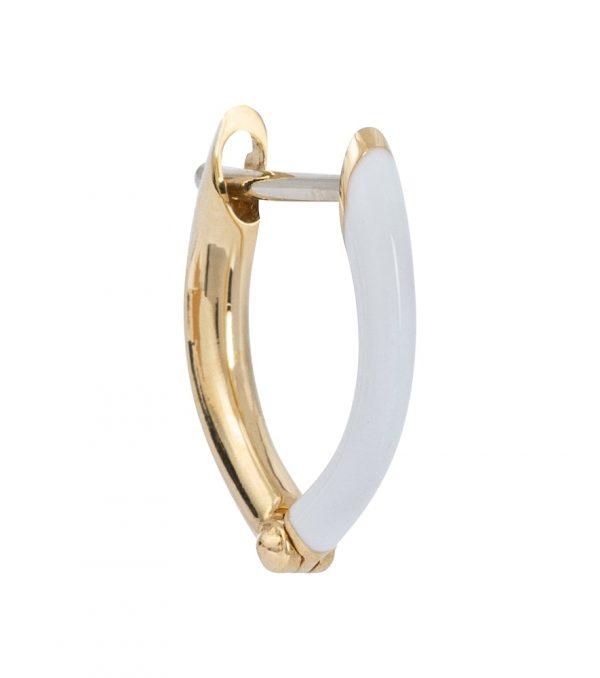Cristina 18kt gold single hoop earring