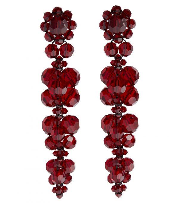 Crystal-embellished drop earrings