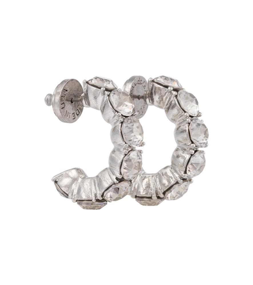 Embellished hoop earrings