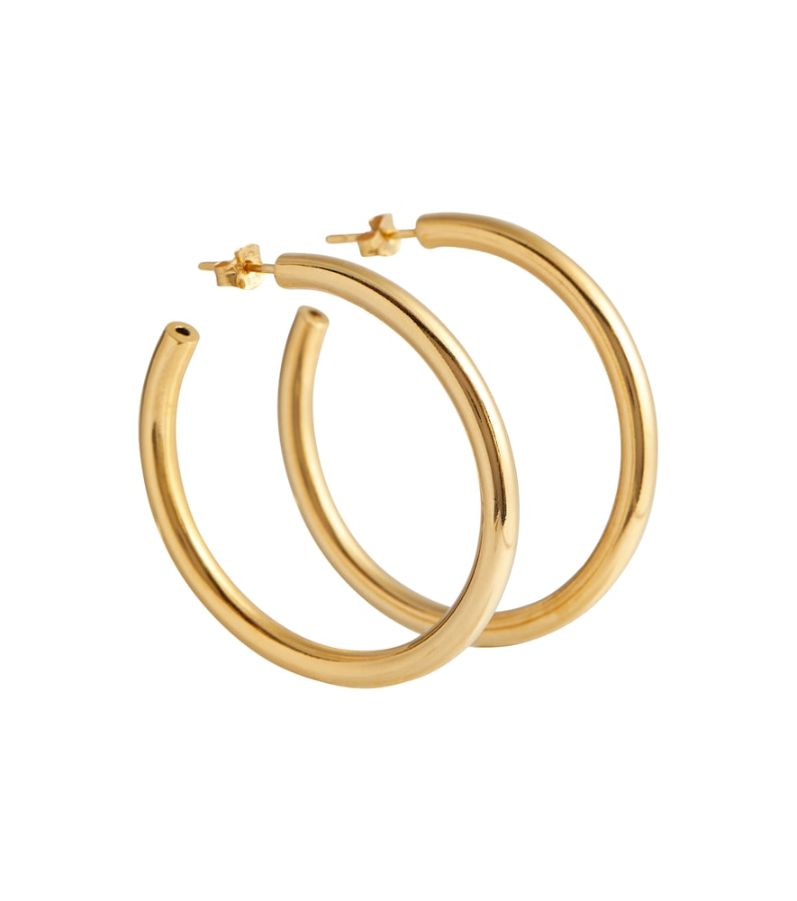 Exclusive to Mytheresa - Large 18kt gold-plated hoop earrings
