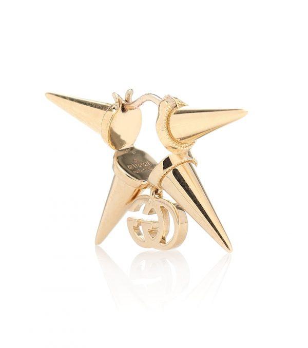 GG Running 18kt-gold single earring