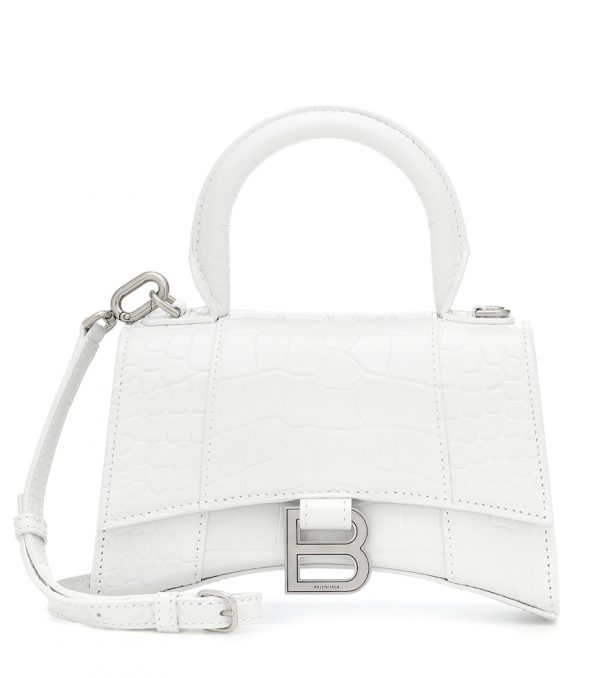 Hourglass XS leather tote