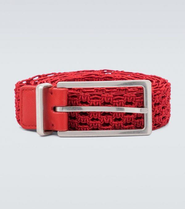 Macramé woven belt