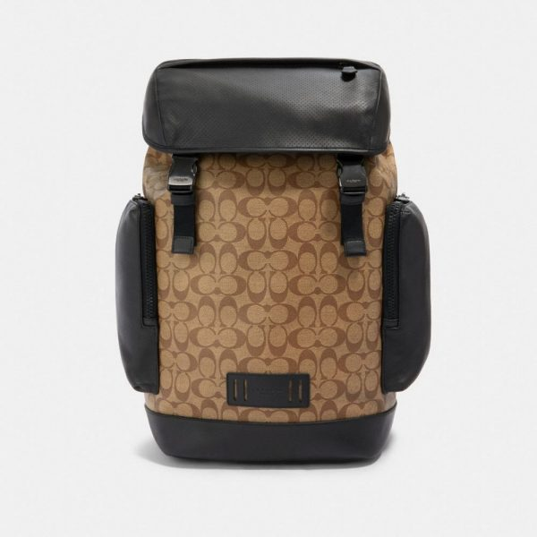 Ranger Backpack In Signature Canvas in Beige