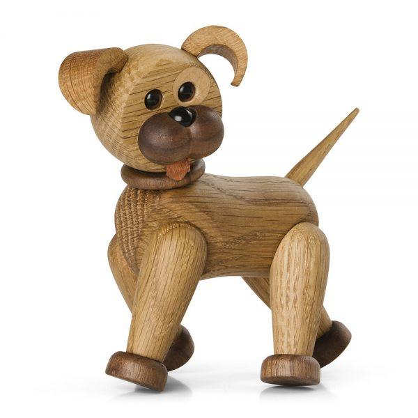 Spring Copenhagen - Happy The Dog Figurine - Red Oak