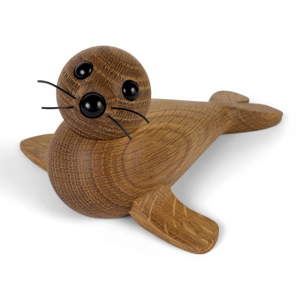 Spring Copenhagen - Seal Wooden Figurine - Red Oak - Large
