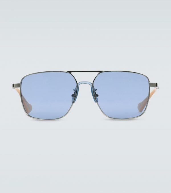 Square-frame aviator sunglasses