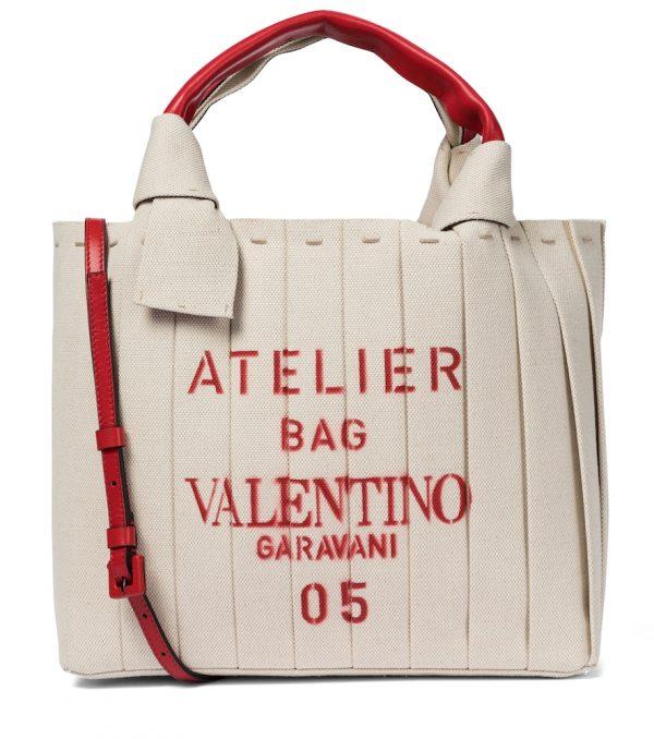 Valentino Garavani Atelier Small canvas tote