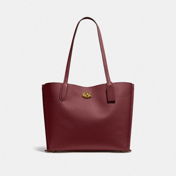 Willow Tote In Colorblock in Red/Burgundy