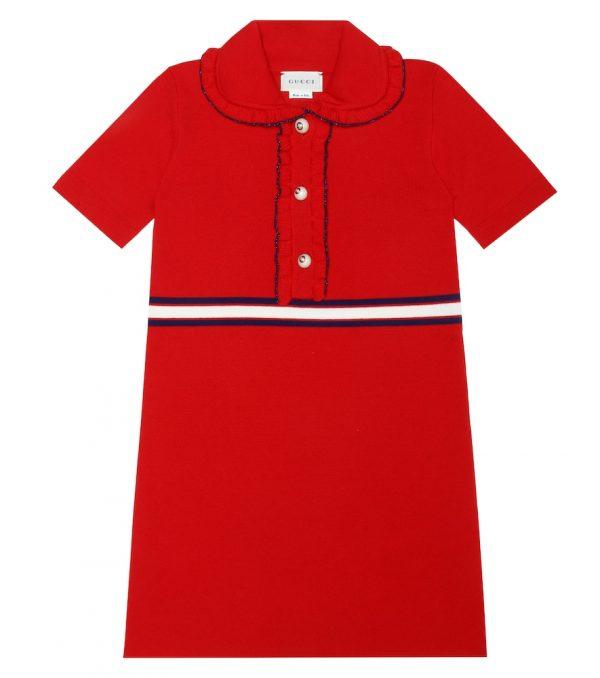 Wool-blend dress